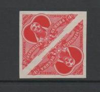 Cuba 1959 For Charity Stamps Imperf Pair.Unmounted Mint. - Cuba