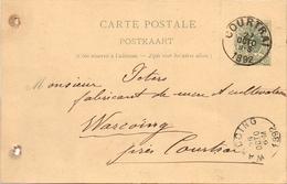 Briefkaart Carte Postale - Courtrai  à Warcoing - 1892 - Kortrijk - Entiers Postaux