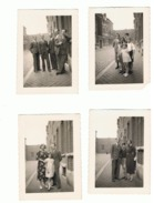 Lot De 4 Photos (+/-6 X 9 Cm) A SITUER  - Liège Ou Environs , Rue, Ateliers, Usine ?? 1937 - Lieux