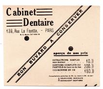 Buvard Paris Rue La Fayette Cabine  Dentaire  Dentiste Chirurgie - Carte Assorbenti