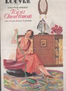 (Paris) Catalogue AU LOUVRE  Exposition Annuelle Tapis Et Ameublement 1925 Couverture De PECOUD (CAT 562) - Kleding & Textiel