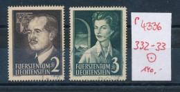 Liechtenstein  Nr. 332-33   O (p4336  ) Siehe Scan