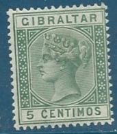 Gibraltar   - Yvert N° 22 * -   Cw 19415 - Gibraltar