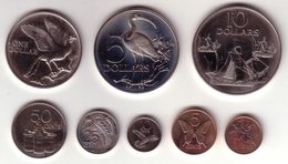 TRINIDAD & TOBAGO - Mint Set 1983 FM KM#MS11  ( 8 Coins ) - BU Prooflike  [Five Rare Types] - Trinidad & Tobago