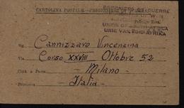 World War II Union Of South Africa Carte Avis De Capture Soldat Italien Censures Sud Africaine Et Italienne FM Franchise - África Del Sur (...-1961)