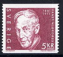 SWEDEN 1981 Wigforss Centenary MNH / **.  Michel 1134 - Unused Stamps