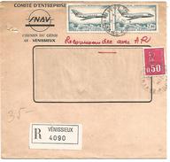 AFFRANCHISSEMENT COMPOSE SUR LETTRE RECOMMANDEE DE VENISSIEUX (RHONE) 1973 - Marcofilie (Brieven)