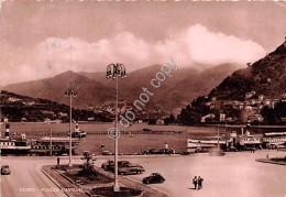 Cartolina - Como Piazza Cavour Auto D'epoca Barche 1950 - Como