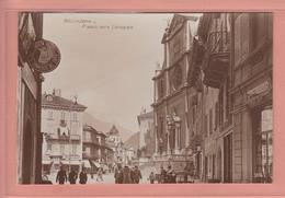 OUDE POSTKAART ZWITSERLAND - SCHWEIZ - SUISSE -   BELLINZONA PIAZZA DELLA COLLEGIALE - TI Ticino