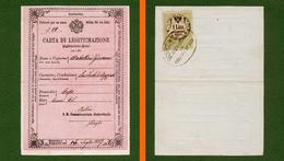 D-IT CARTA DI LEGITTIMAZIONE Regno Lombardo Veneto 1857 ANFO (Brescia) - Documents Historiques