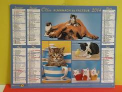 Calendrier Oller > Petits Chiens Et Chats - Almanach Du Facteur 2014 Comme Neuf - Calendars