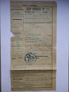 """70 - Haute-Saône - """"Sauf-Conduit"""" De Noroy Le Bourg à Grey Pour Une Jeune Fille De 13 Ans - 13 Avril 1917 - Documents Historiques"""