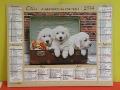 Calendrier Oller > Petits Chats & Chiens - Almanach Du Facteur 2014 Comme Neuf - Calendars