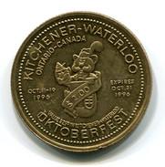 1996 KItchener-Waterloo Canada Oktoberfest $2 Token - Monetary /of Necessity