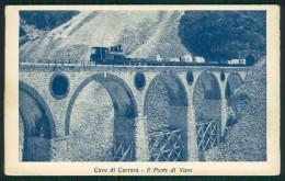 Massa Carrara Treno Ponte Di Vara Cave Di Marmo Cartolina TC0252 - Massa