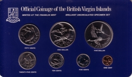 BRITISH VIRGIN ISLANDS - Complete Prooflike Set (7 Coins) 1982 FM - KM#MS10 [Rare Date] - Isole Vergini Britanniche