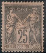 France Yvert 97 (*) Sans Gomme TB  Sans Défaut Cote EUR 40  (numéro Du Lot 155J) - 1876-1898 Sage (Tipo II)