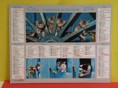 Calendrier Oller > Petit Chats - Almanach Du Facteur 2014 Comme Neuf - Calendars