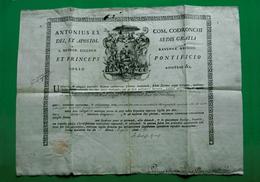 D-IT Bolla Vescovo Codronchi RAVENNA 1799 Cm 48x36 Autentica Reliquia - Documents Historiques
