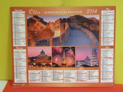 Calendrier Oller > Les Plus Grand Monuments Du Monde - Almanach Du Facteur 2014 Comme Neuf - Calendars