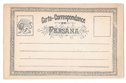 1878 Iran Persia Postal Stationery Card Unused Persian Coat Of Arms - Iran