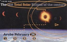 Aruba, ARU-C-21, Call Waiting, Total Solar Eclipse, 2 Scans. (09.98, 80.000) - Aruba