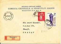 Romania Registered Cover Sent To Sweden 20-11-1964 - 1948-.... Republics