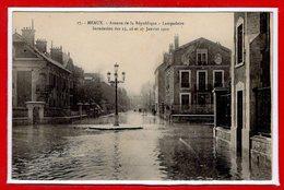 77 - MEAUX -- Inondation Des 25,26 Et 27 Janvier 1910 -- Avenue De La République - Meaux
