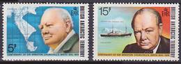 Série De 2 TP Neufs ** N° 62/63(Yvert) Territoire Antarctique Britannique 1974 - Sir Winston Churchill - Unused Stamps