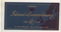 ISLANDE - 1995 - Emmission Commune Avec Le LUXEMBOURG - 4 Blocs De 4 Dont 2 Neufs Et 2 Oblitérés - Collections, Lots & Séries