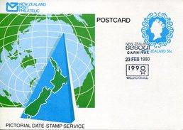 17328 New Zealand, Special Postmark Wellington 1990  Carnival - Carnival