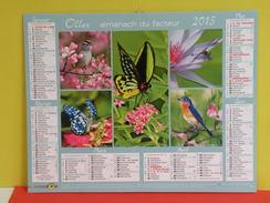 Calendrier Oller > Les Papillons, Les Oiseaux - Almanach Du Facteur 2015 Comme Neuf - Calendars