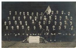 Tarare: Carte-photo De Conscrits Classe 1915 (sur La Pancarte: Tarare Le 13 Novembre 1914) Gros Plan - Tarare