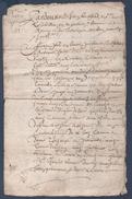 1659 Manuscrit En Bon état,Belle Calligraphie à Déchiffrer. - Manuscrits