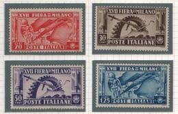 1936 Fiera Di Milano Serie Cpl MNH - Nuovi