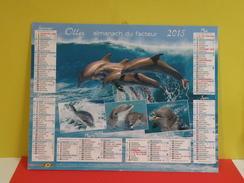 Calendrier Oller > Les Dauphins - Almanach Du Facteur 2015 Comme Neuf - Calendars