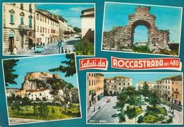 CARTOLINA: (GR) SALUTI DA ROCCASTRADA M. 480 (VEDUTINE) - F/G - COLORI - VIAGGIATA - LEGGI - Italia