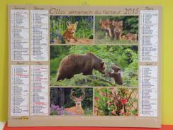 Calendrier Oller > Les Animaux De La Forest - Almanach Du Facteur 2015 Comme Neuf - Calendars