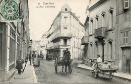 81 Castres - Rue Gambetta - Attelage - Mammouille En Balade - Animé - Castres
