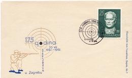 1962 - Yougoslavie - 175e Anniversaire Du Championnat De Tir à Zagreb Le 18/8/1962 - Tp N°901 - Covers & Documents