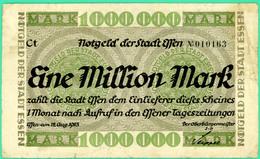 1 000000 Mark - Allemagne - 22 Août 1923 - Effen - Notegeld - TB+ - - [ 3] 1918-1933 : Weimar Republic