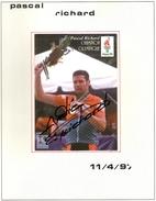 Autographe De Pascal Richard 1997 Champion Olympique Atlanta 96 - Autographes