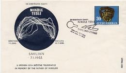 1963 - Yougoslavie - 20e Anniversaire De La Mort De L'ingénieur Serbe Nikole Tesle - Tp N° 924 - Covers & Documents