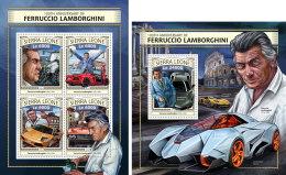 SIERRA LEONE 2016 ** Lamborghini Cars Autos Voitures M/S+S/S - OFFICIAL ISSUE - A1703 - Voitures