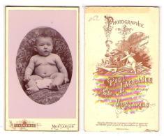(Photo Carte De Visite) 062, Photo De Bébé Par Paul Lagrange Place Mirabeau à Montargis - Foto's