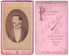 (Photo Carte De Visite) 203, Portrait Homme Par A Saulieu à Paris - Anciennes (Av. 1900)