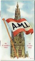 Horaire. Train & Bateau : A.M.I. Agence Maritime Internationale. 1954-55. - Monde