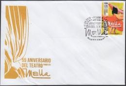 2016-FDC-47 CUBA 2016 FDC. 55 ANIV TEATRO MELLA. THEATER DANCE. - FDC