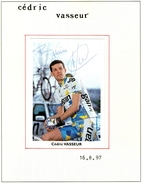 Autographe De  Cedric Vasseur 1997 - Autographes