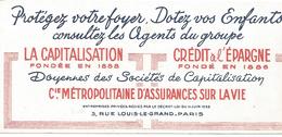 BUVARD Cie METROPOLITAINE D'ASSURANCES - Blotters